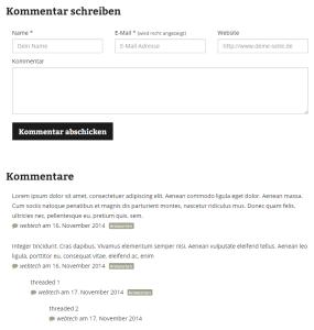 Bootstrap Comments Form für WordPress